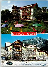Seis am Schlern Winter  Pension Erika Seis am Schlern / Siusi allo Sciliar