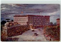 Roma 1908 Lithographie Grand Hotel Suisse  Rom (Roma)