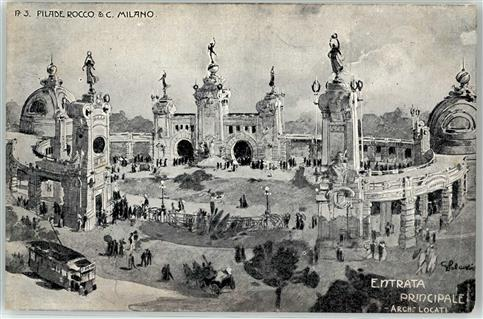 Milano 1906 Lithographie Ausstellung  Mailand (Milano)