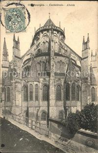 Bourges Cathedrale Abside Stempel auf AK Bourges
