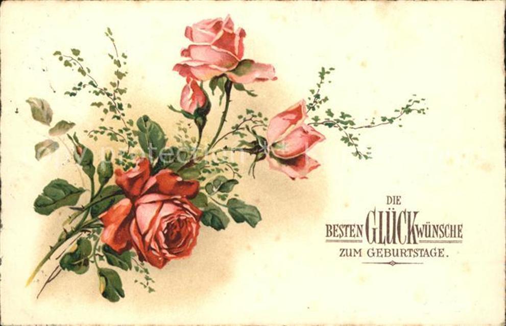 Geburtstag Rosen Geburtstag Ansichtskarten Center Onlineshop