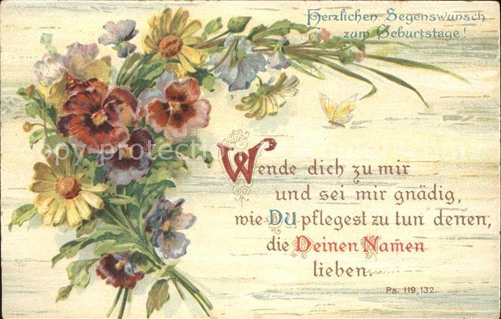 Geburtstag Segenswuensche Blumen Gedicht Geburtstag Ansichtskarten