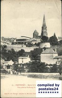 Parthenay Eglise Saint-Laurent Marche-Couvert Parthenay