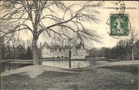Bonnetable Chateau Parc Etang Stempel auf AK Bonnetable