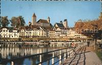 Rapperswil SG Schloss Promenade Zuerichsee Rapperswil SG