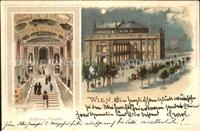 Wien Hofburg Theater Litho