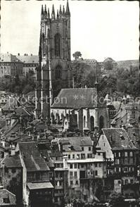 Fribourg FR Cathedrale / Fribourg /Bz. La Sarine