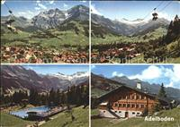 Adelboden Panorama Sesselbahn Schwimmbad Gasthaus / Adelboden BE /Bz. F