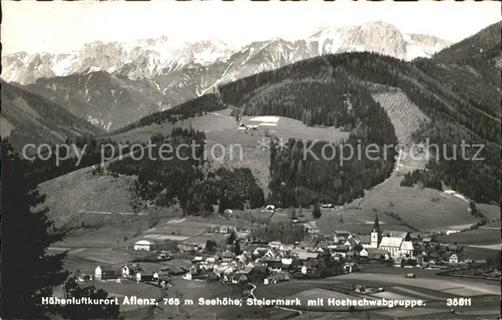 Aflenz Kurort Steiermark Mit Hochschwabgruppe