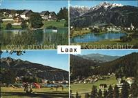 Laax Strandbad Signina Cons mit dem Craps S Gion / Laax GR /Bz. Surselv