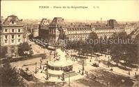 Paris Place de la République Strassenbahn Paris