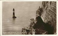 Eastbourne Sussex Beachy Head Showing Lighthouse Devils Chimney  /  /
