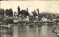Rapperswil SG Burg Altstadt Zuerichsee / Rapperswil SG /Bz. See-Gaster