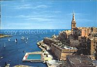 Malta_St. Pauls_Bay Anglicon Cathedral Segelboote Malta_St. Pauls_Bay