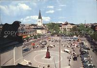 Karlstad Varmlands Lan View of the Main Square the Cathedral and the hi