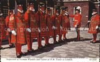 Leibgarde Wache Yeoman Warders Gaoler Inspection Tower of London Polize