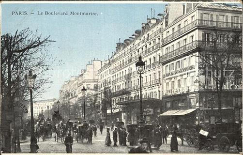 Paris Boulevard Montmartre Traffic / Paris /Arrond. de Paris