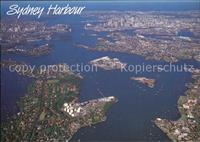 Sydney New South Wales Aerial view Many Caves and Bays Sydney