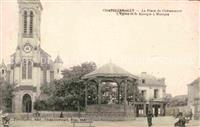 Chatellerault Place Chateauneuf Kirche Kiosque Musique Chatellerault