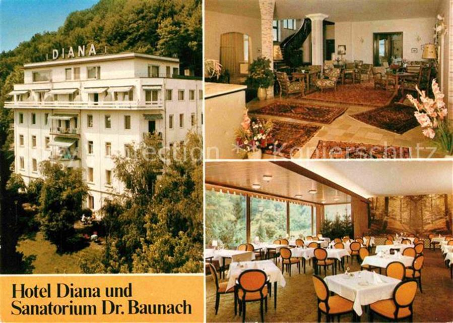 Bad Kissingen Hotel Diana und Sanatorium Dr. Baunach Bad ...