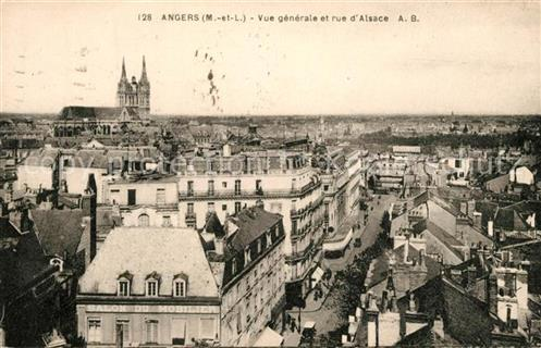 Angers Rue d`Alsace Angers