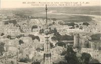 Angers Panorama pris en ballon vers Eglise St. Laud Angers