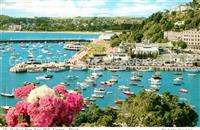Torquay UK The Harbour from Vane Hill Torbay