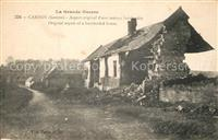 Carnoy_Somme Grand Guerre 1914-1916 zerst?rtes Wohnhaus Carnoy Somme