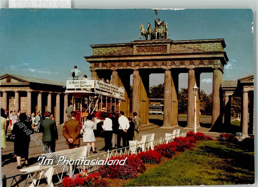 5040 Bruhl Keine Ak Phantasialand Bus Nachbildung Brandenburger Tor Ansichtskarten Center Onlineshop