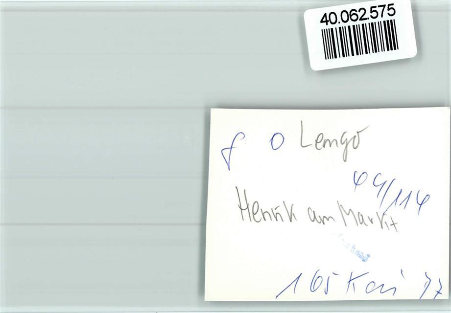 4920 Lemgo Keine Ak Henrik Am Markt Ansichtskarten Center Onlineshop