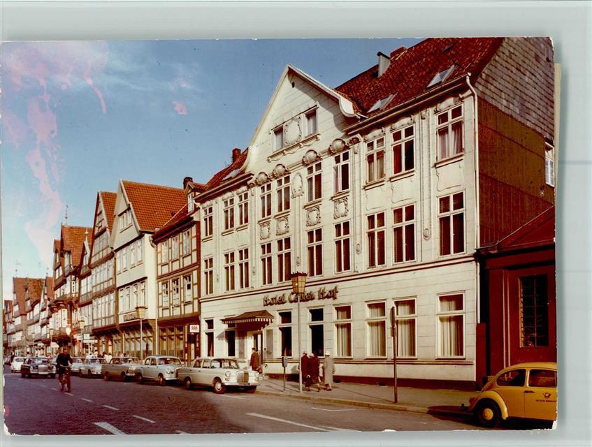 3100 Celle Keine Ak Vw Gelber Postkafer Beim Hotel Celler Hof