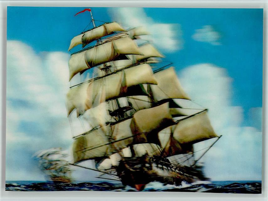 Drei D segelschiff drei d karte englische vessel ansichtskarten center
